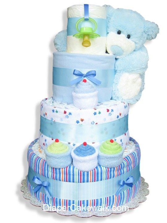 Online shopping for blue sampler baby diaper cake, find delightful baby gift from our baby boy diaper cakes collection. Your online baby store!