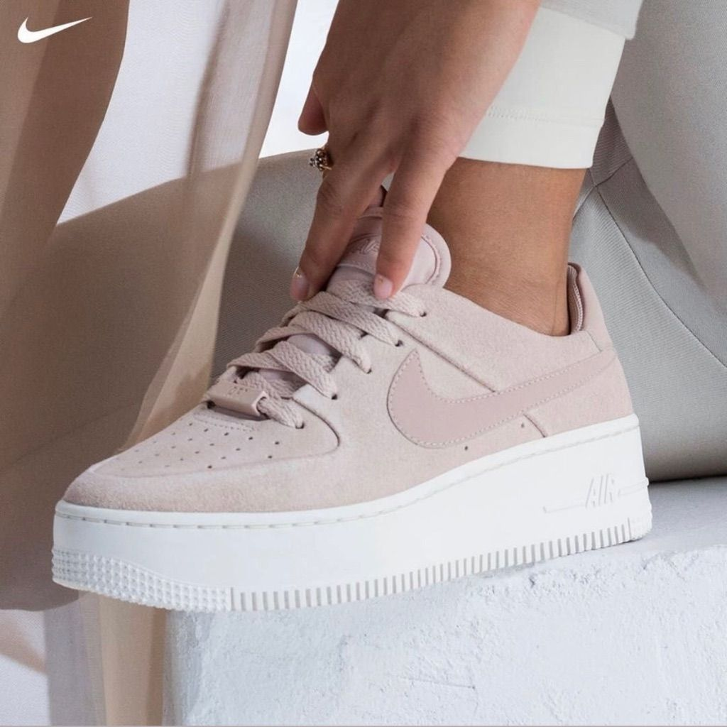 Nike Shoes | Air Force 1 Sage Lace Low | Color: CreamPink