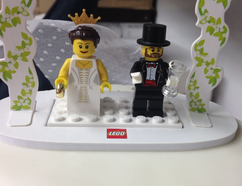 A lego inspired wedding had a unique wedding top