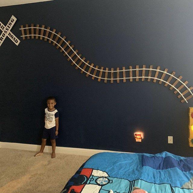 7 feet long S Curve Railroad Track Train Decor Home Wall ...