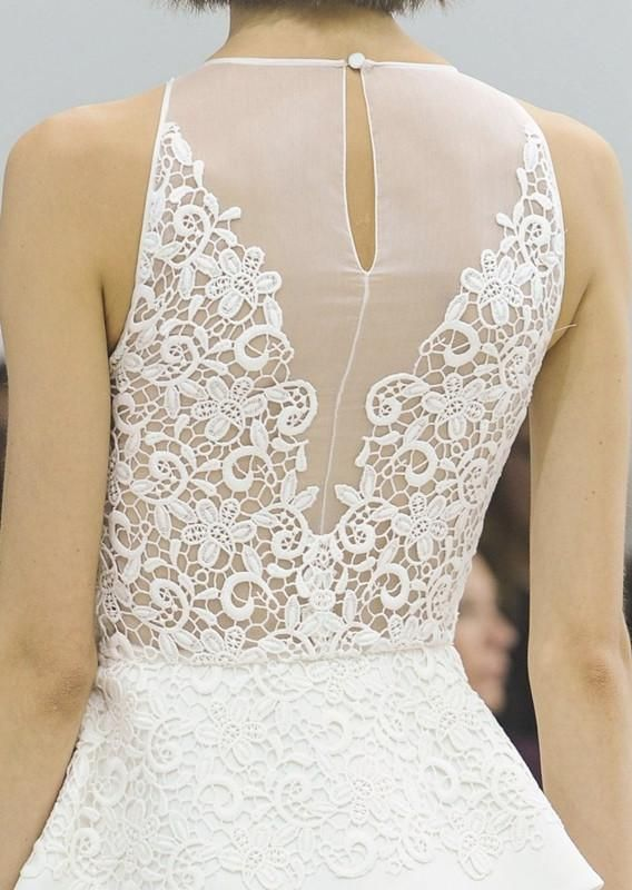 Lace back wedding dress | nuptials {style & attire} | Pinterest ...