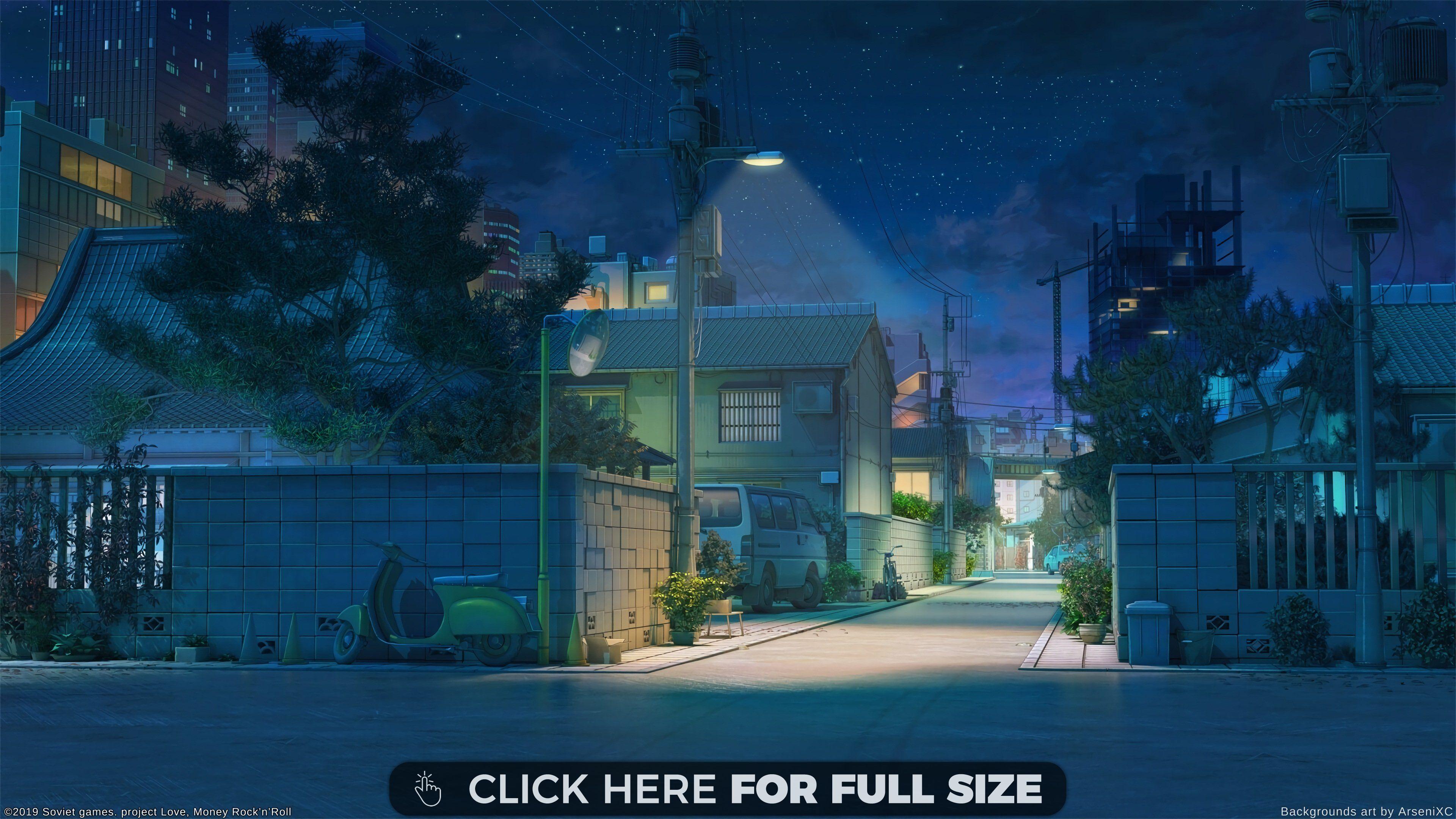 Night Japan Street 4k Wallpaper Scenery Background Anime Backgrounds Wallpapers Anime Scenery Wallpaper