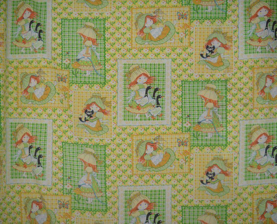 "1 Yard Vintage Cotton Fabric Farm Scene Animals New Old Stock 44/"" Wide"