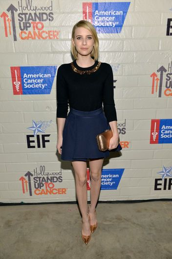 Emma Roberts wore a charming, demure look from Kate Spade New York: