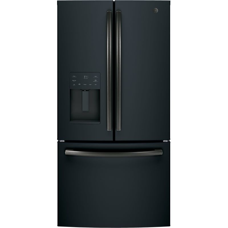 Ge Gfe26j 36 Inch Wide 25 6 Cu Ft Energy Star Rated French Door Refrigerator W Black Slate Refrigerators French Door In 2020 French Door Refrigerator French Doors Counter Depth Refrigerator