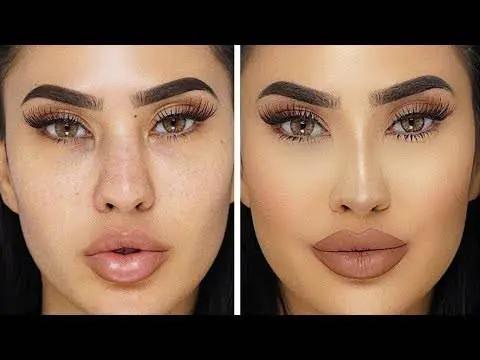 كونتور الانف الكبير والطويل والمدبب بالصور والشرح التفصيلي Nose Contouring Nose Makeup Contour Makeup