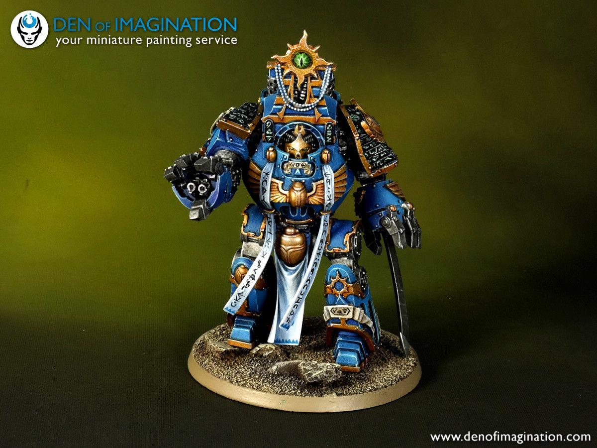 Thousand Sons Legion Osiron Pattern Contemptor Dreadnought Thousand Sons Warhammer 40k Artwork Sons