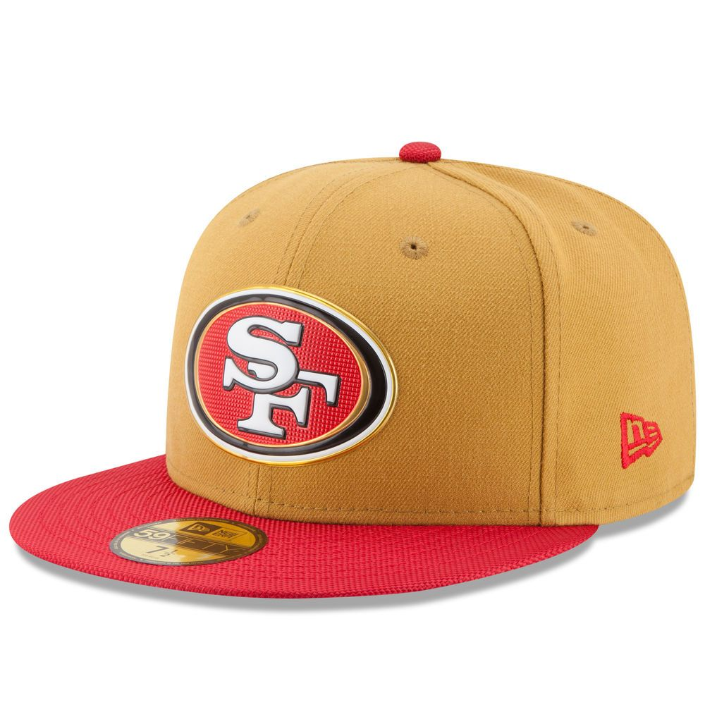 Mens san francisco 49ers new era gold collection 59fifty