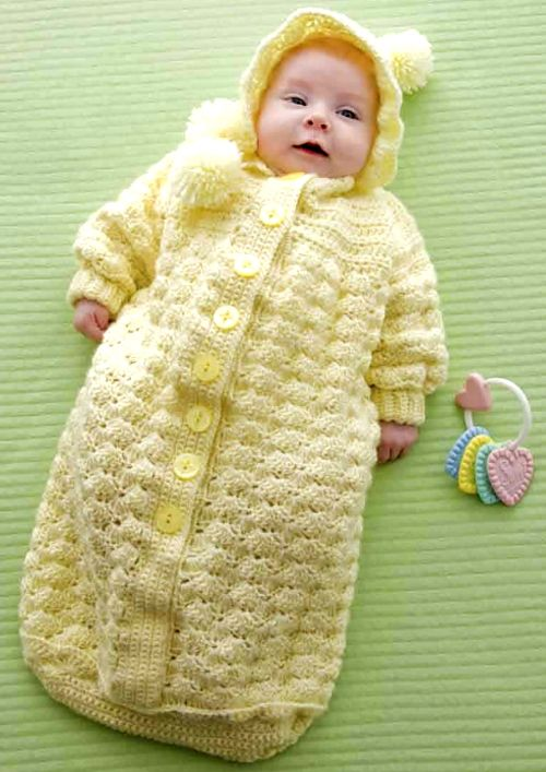 Cozy Baby Bunting - Free Pattern   Crochet Crafts   Pinterest   Bebe ...