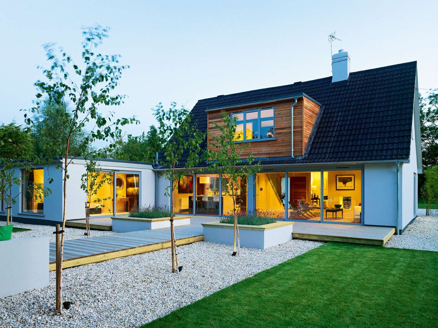 Modern bungalow remodel homebuilding renovating Contemporary house designs uk