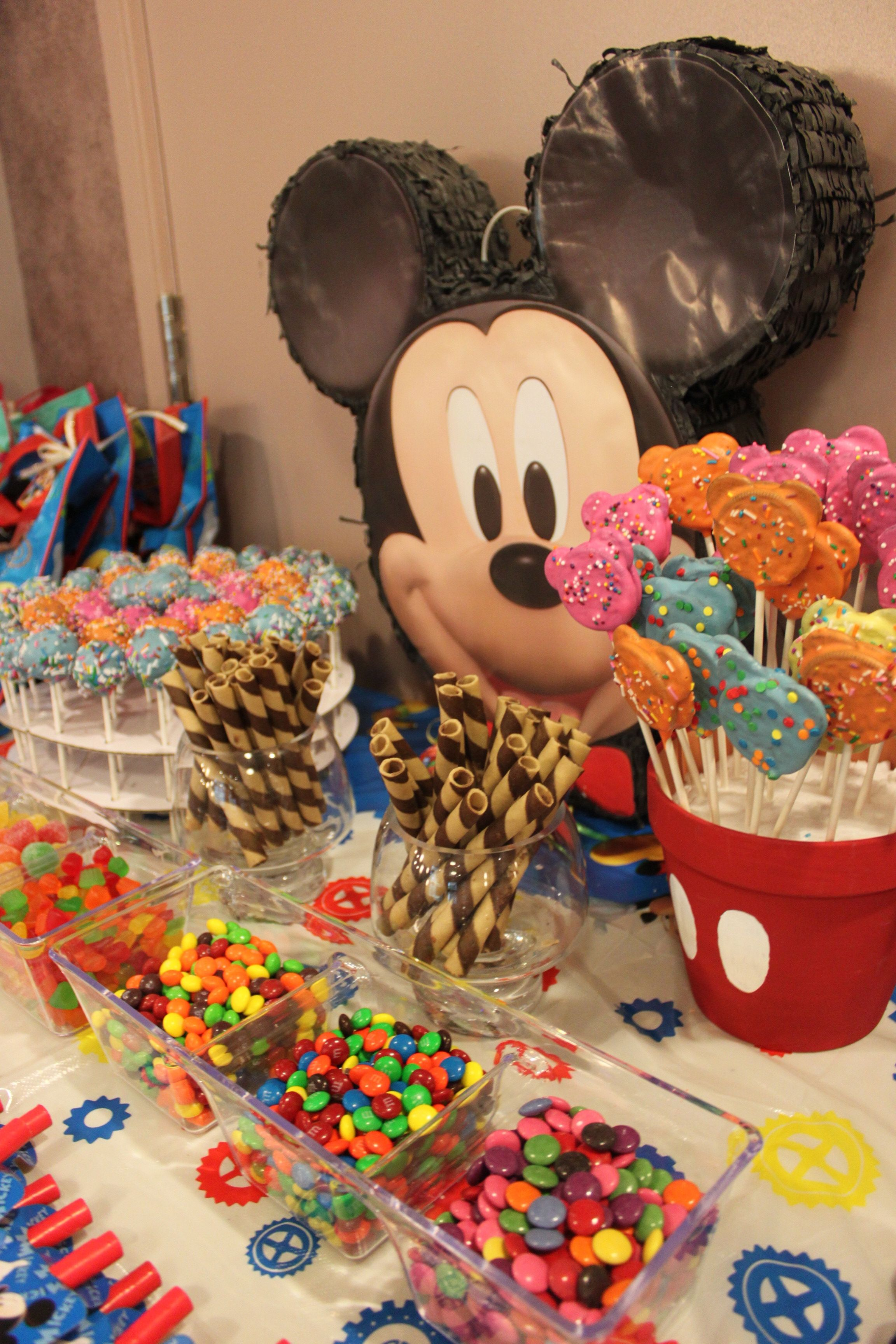 Candy Buffet Fun Filled Goodies For Kids Mickey 1st Birthdays Mickey Mouse Clubhouse Birthday Party Decorations Fiesta Mickey Mouse