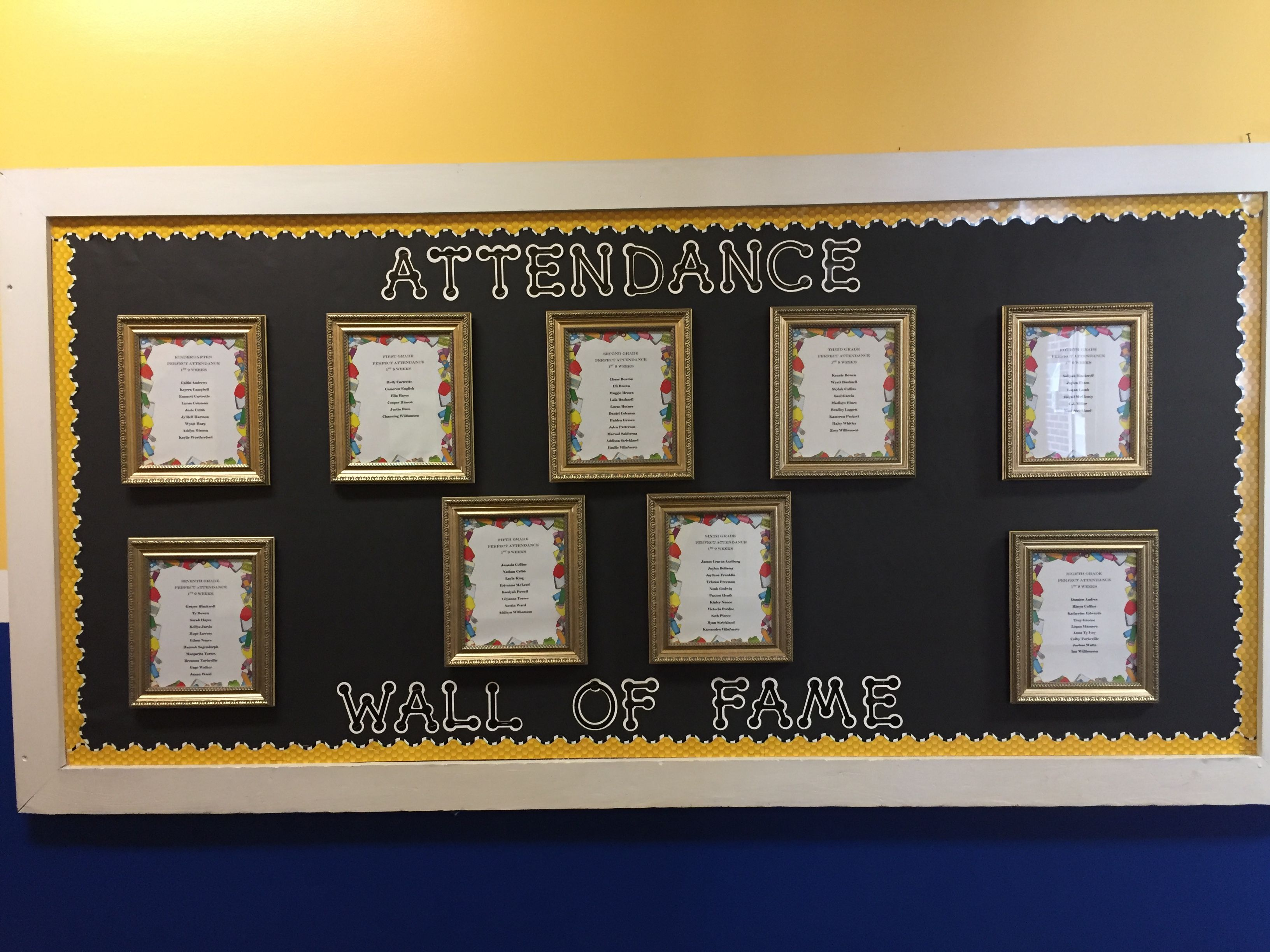 Attendance Wall Of Fame