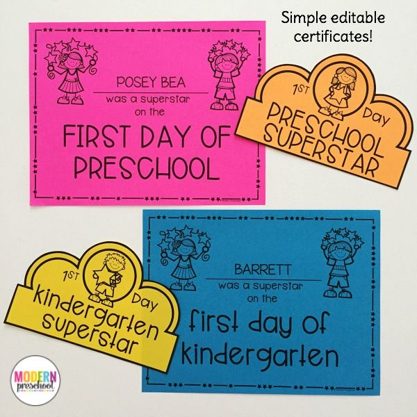 EDITABLE Welcome To School Pack for Preschool, Pre-K, Kindergarten - copy pre kindergarten certificate printable