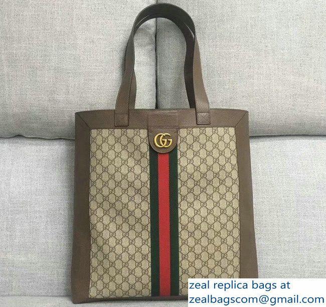 7e98e4d36dda Gucci Web Ophidia Soft GG Supreme Large Tote Bag 519335 2018 | Bags ...