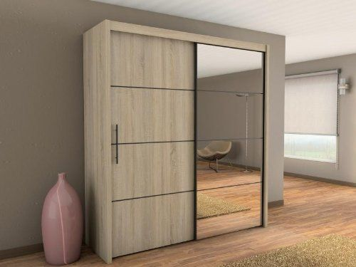 Modern Bedroom Wardrobe Sliding Door Inova 200cm In Oak Sonoma Sold By Arthauss Wardrobe Door Designs Sliding Wardrobe Designs Wardrobe Doors