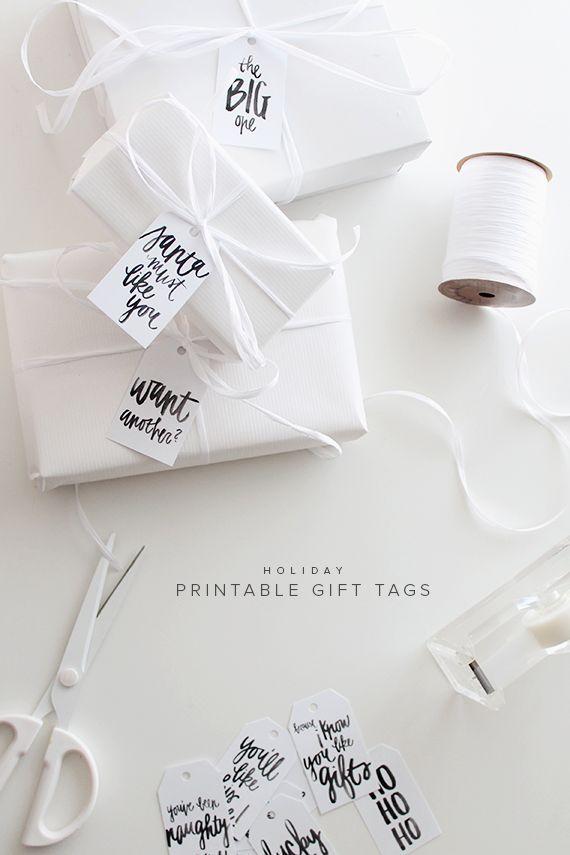 printable holiday gift tags | Geschenkanhänger, Geschenke verpacken ...