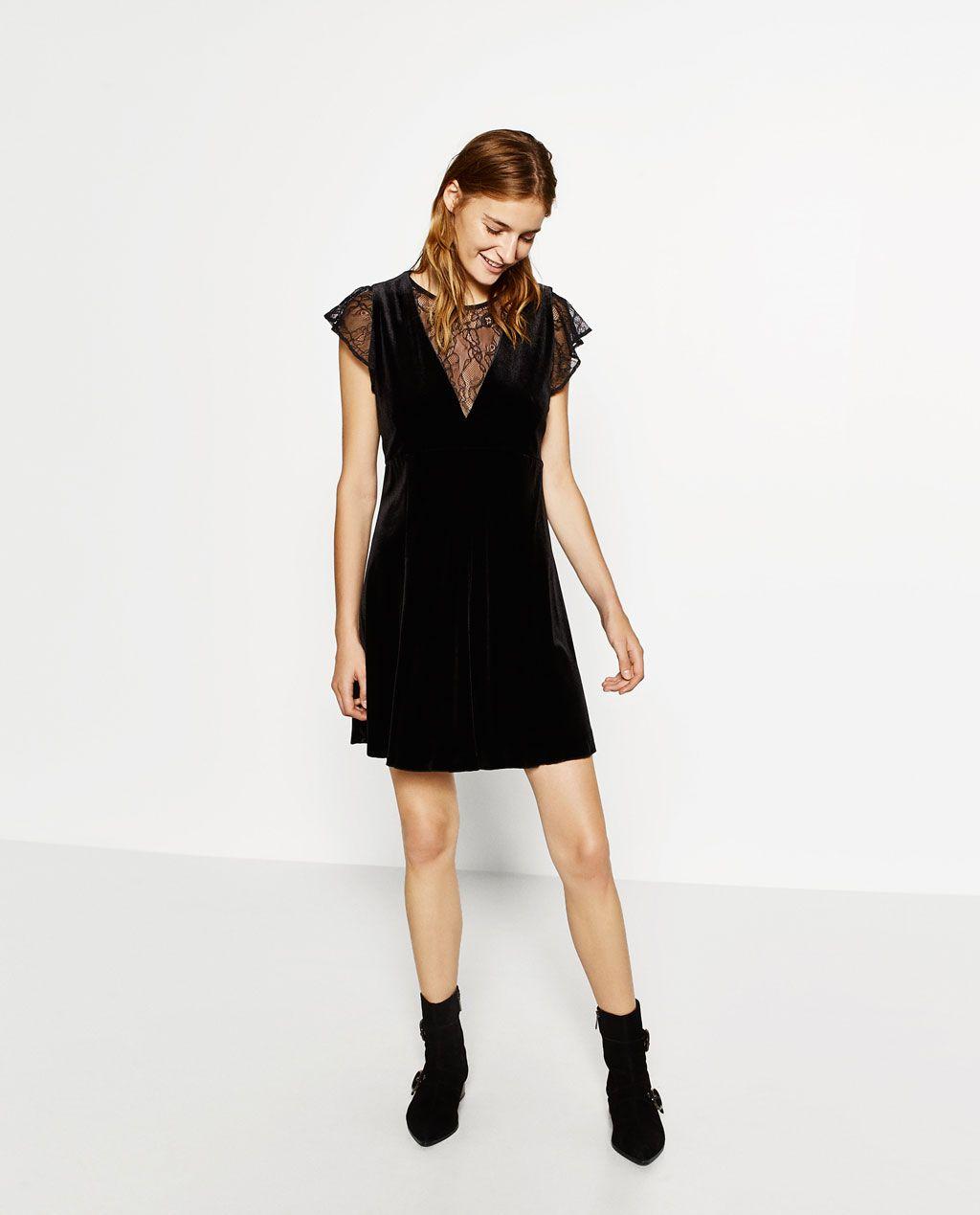 I Zara Kjole Af Velour Inspiration Fra Fashion Billede 1 wP6qtt