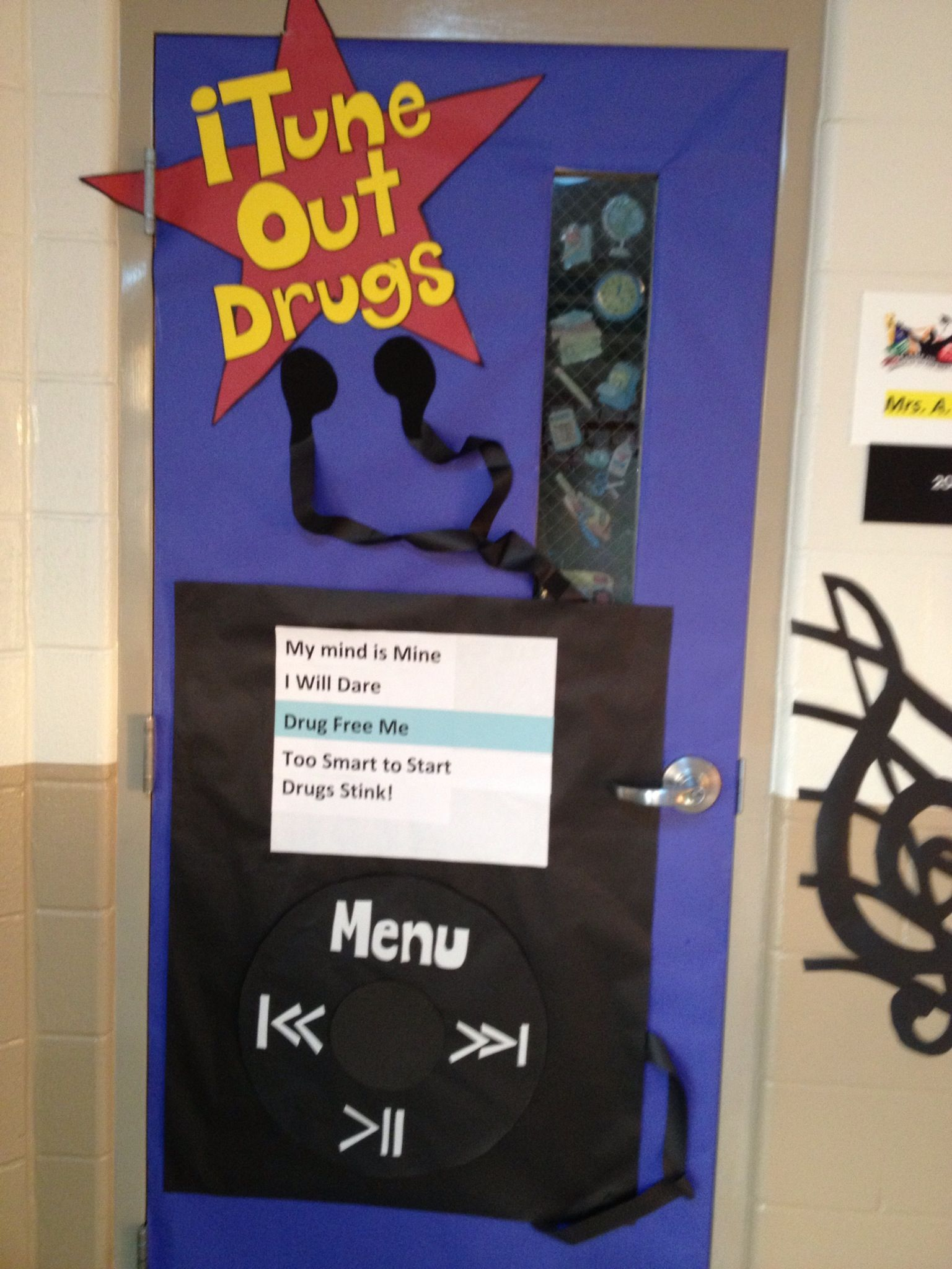 Red Ribbon Week Door Decorating Drug Free | Hair styles ...