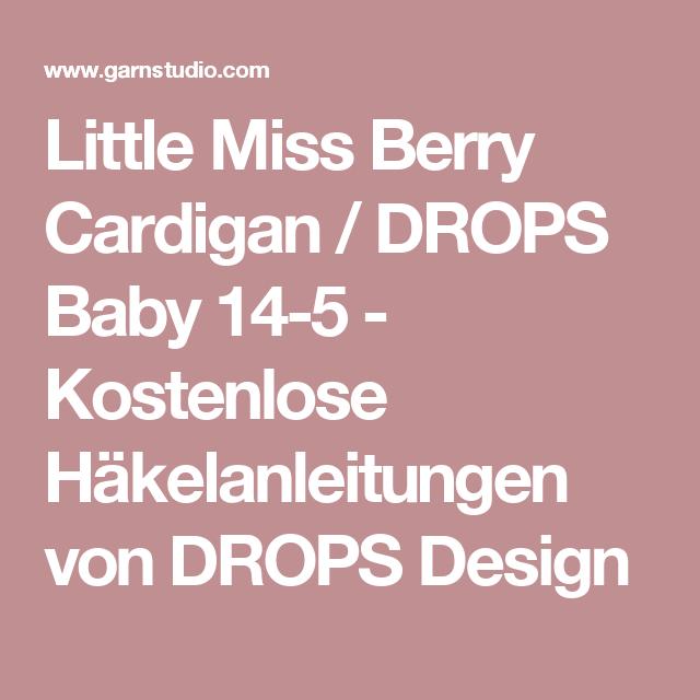 Little Miss Berry Cardigan / DROPS Baby 14-5 - Kostenlose ...