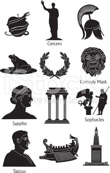 Greek Mythical Icons Google Search Greek Mythology Pinterest