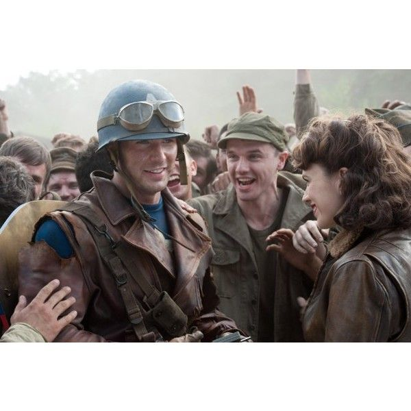 Captain America The First Avenger (2011) ❤ liked on Polyvore featuring marvel and captain america