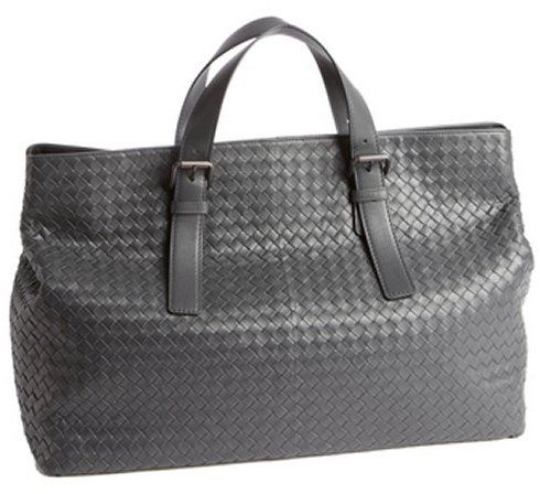 $3,030, Grey Intrecciato Leather Large Travel Tote by Bottega Veneta. Sold by Bluefly.