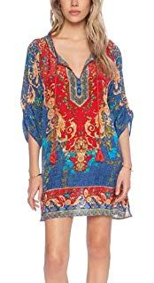 8d2a5473616 FORTULY Womens Cover up Bohemia Tassel Swimsuit Beachwear Kimono Bikini  Dress Boho Style at Amazon Women s