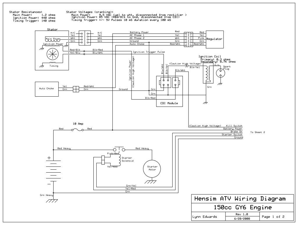 kazuma falcon 150 - having trouble getting quad to start ... kazuma falcon wiring diagram four wheeler chinese 110cc atv wiring diagram pinterest
