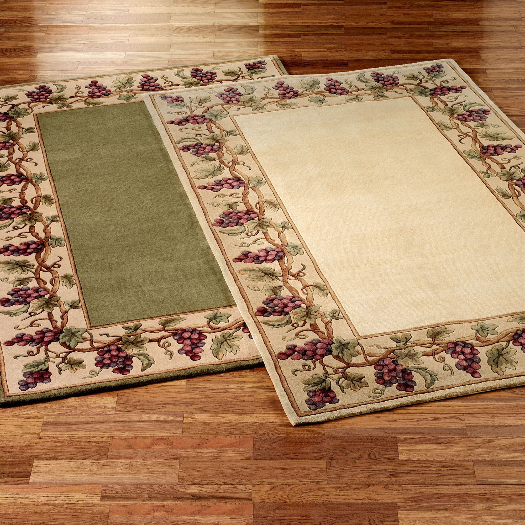 Area Rugs Grapes Napa Border Area Rugs Area Rug Sets Area