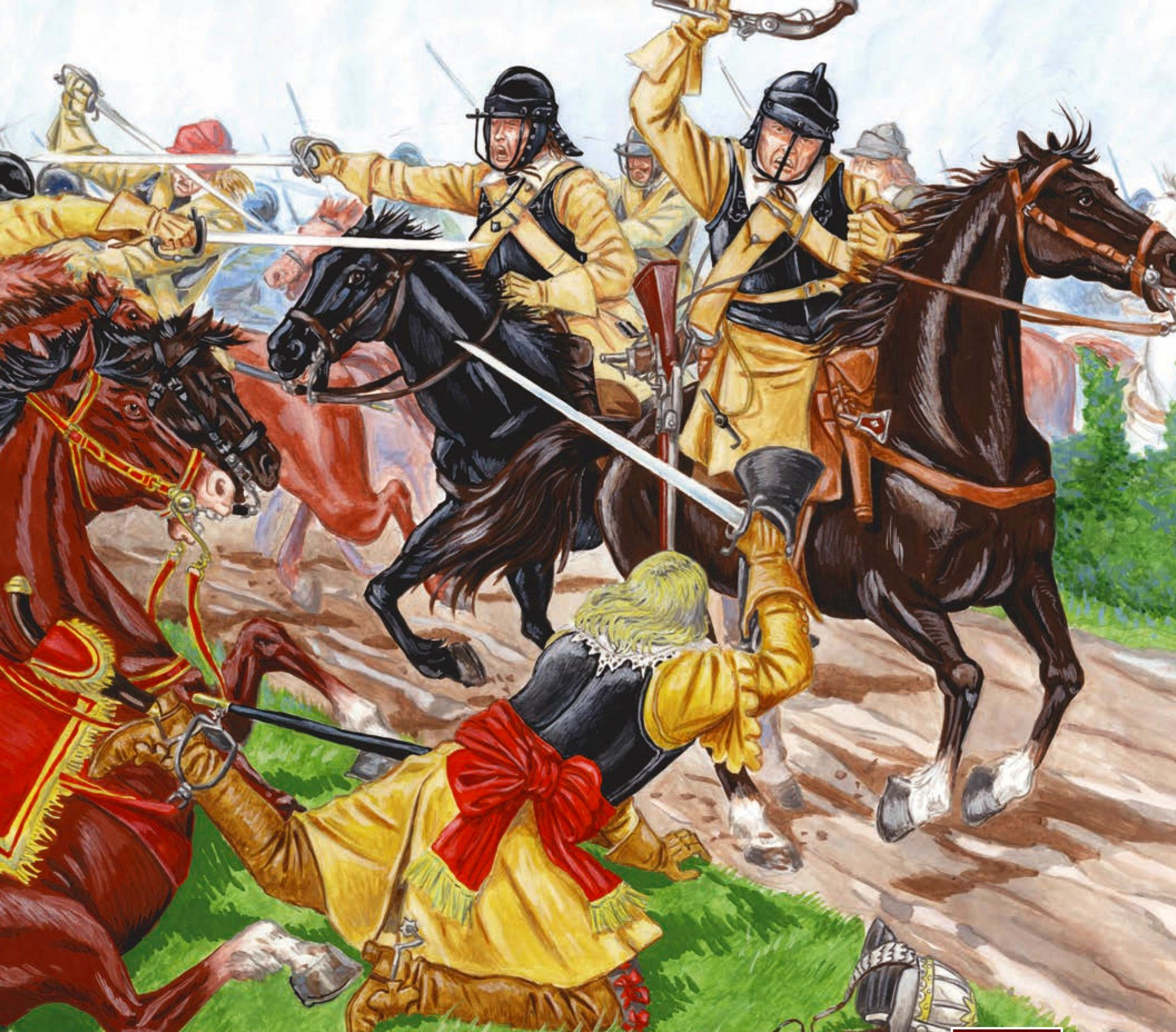 Battle of Montgomery, English Civil War Civil war art