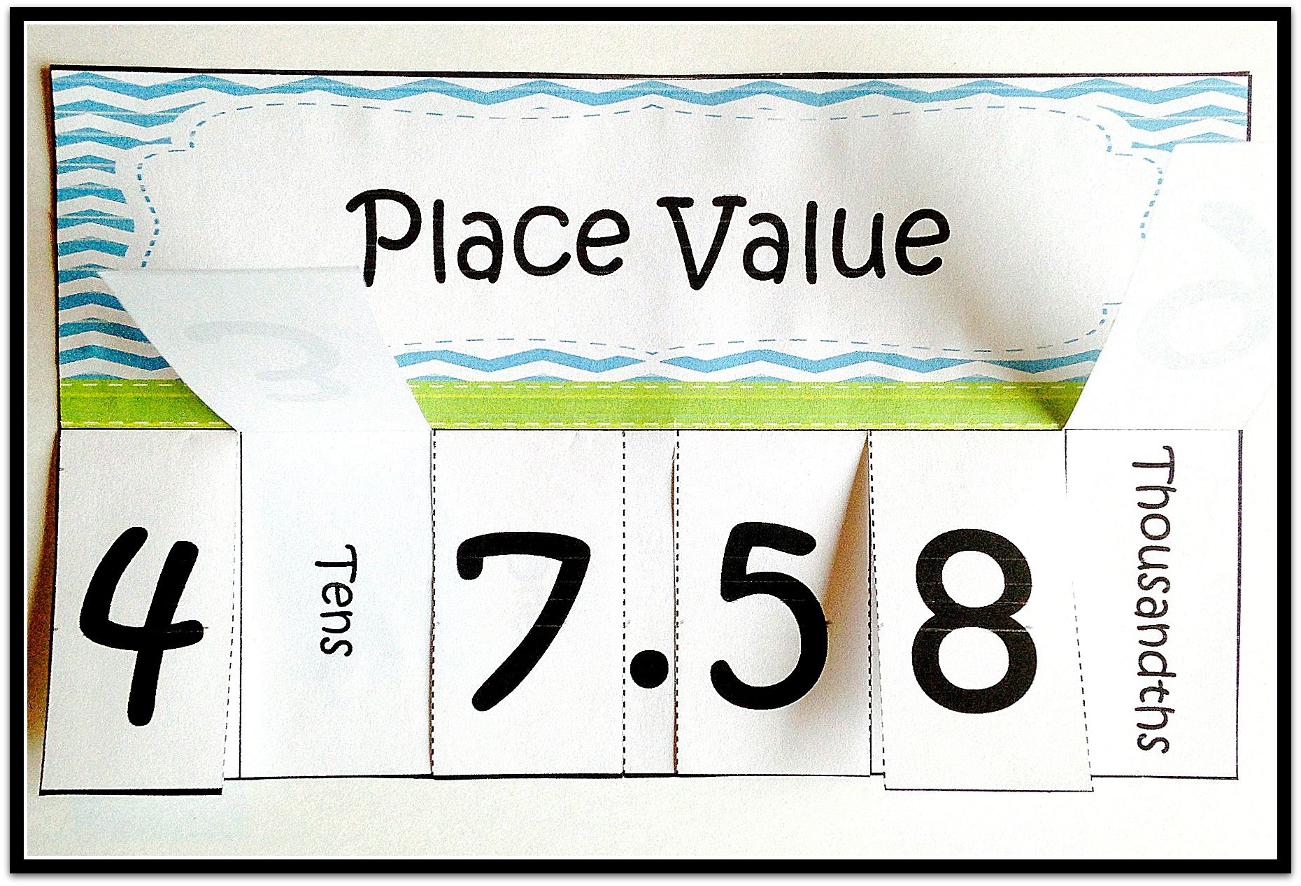 Great Place Value Foldable I Love How It Helps Students Remember Hundreds Tens Ones Ten Place Values Math Interactive Notebook Middle School Math Stations