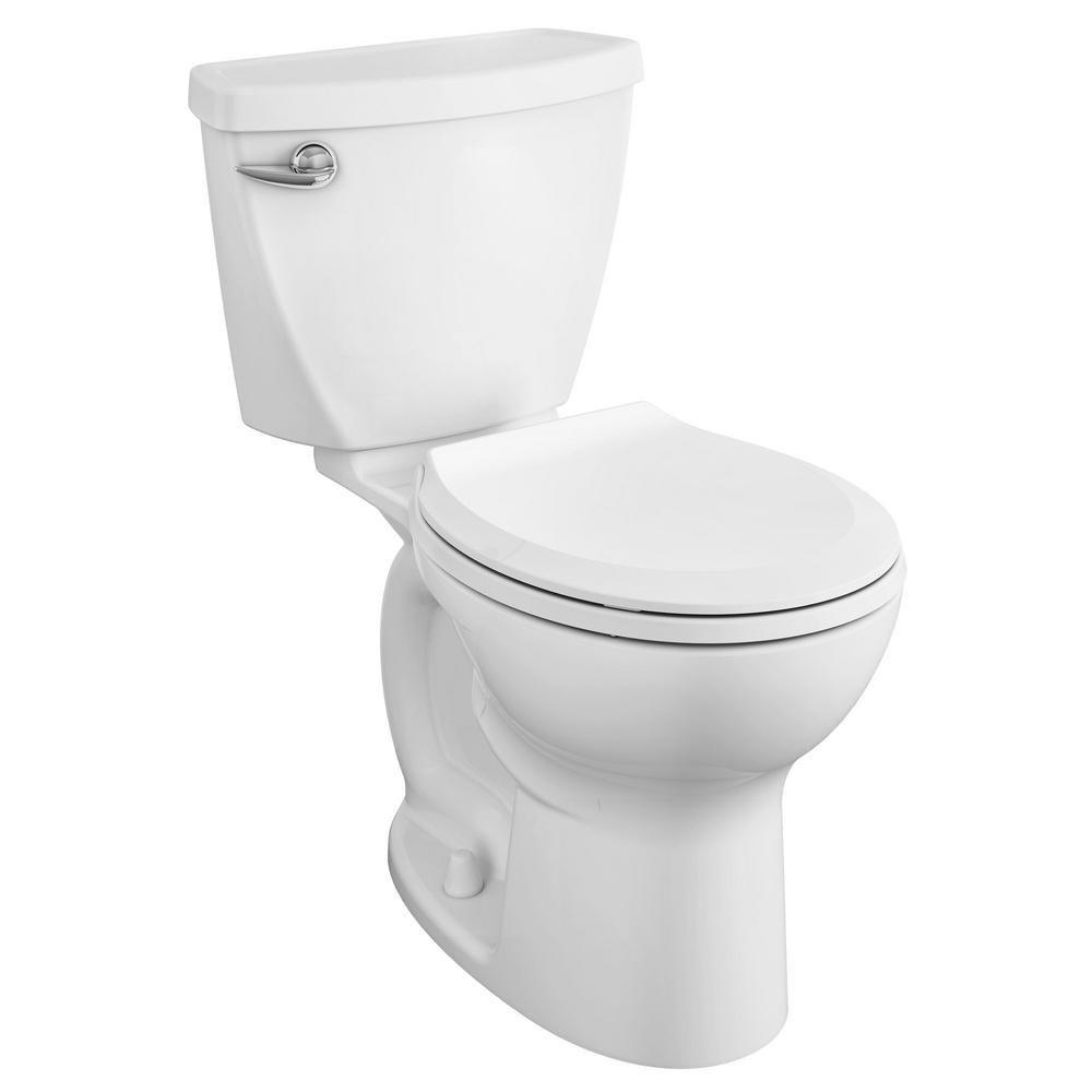 American Standard Cadet Tall Height 10 In Rough In 2 Piece 1 28 Gpf Single Flush Round Toilet With Slow Close Seat In White 3376128st 020 American Standard Bidets Modern Toilet