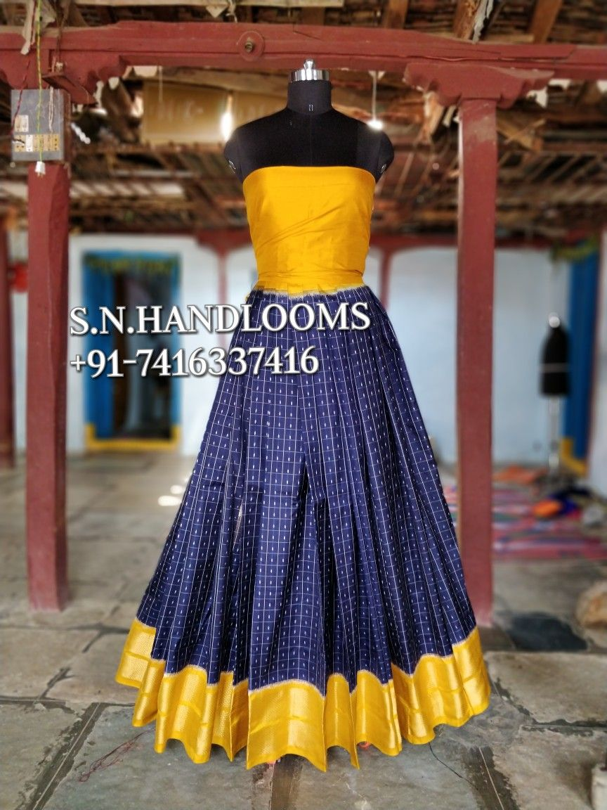 POCHAMPALLY IKKAT PURE SILK lehengas available in stock for