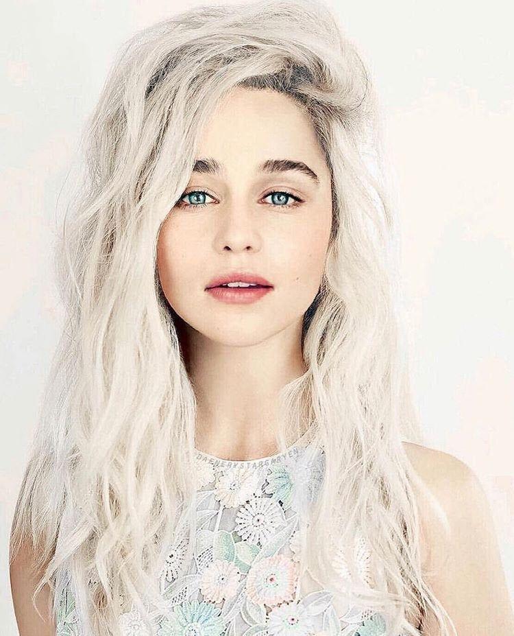 78+ Beautiful Hair Ideas Emilia Clark   Hair over face ...