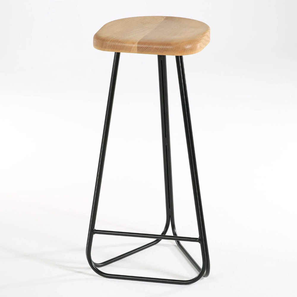 Marvin Handmade Steel And Wood Breakfast Bar Stool Bar Stools Designer Bar Stools Breakfast Bar Stools