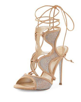 0180b5a54e63 Crystal-Embellished+Suede+Ankle-Wrap+Sandal