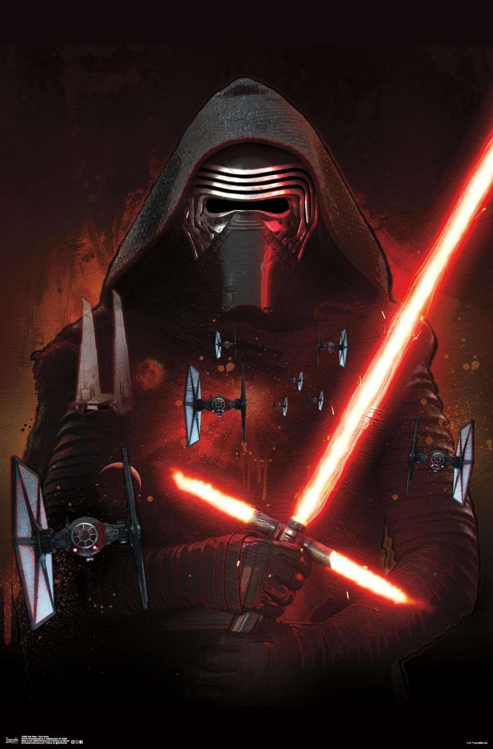 Star Wars The Force Awakens Kylo Ren Star Wars Background Star Wars Wallpaper Star Wars Poster