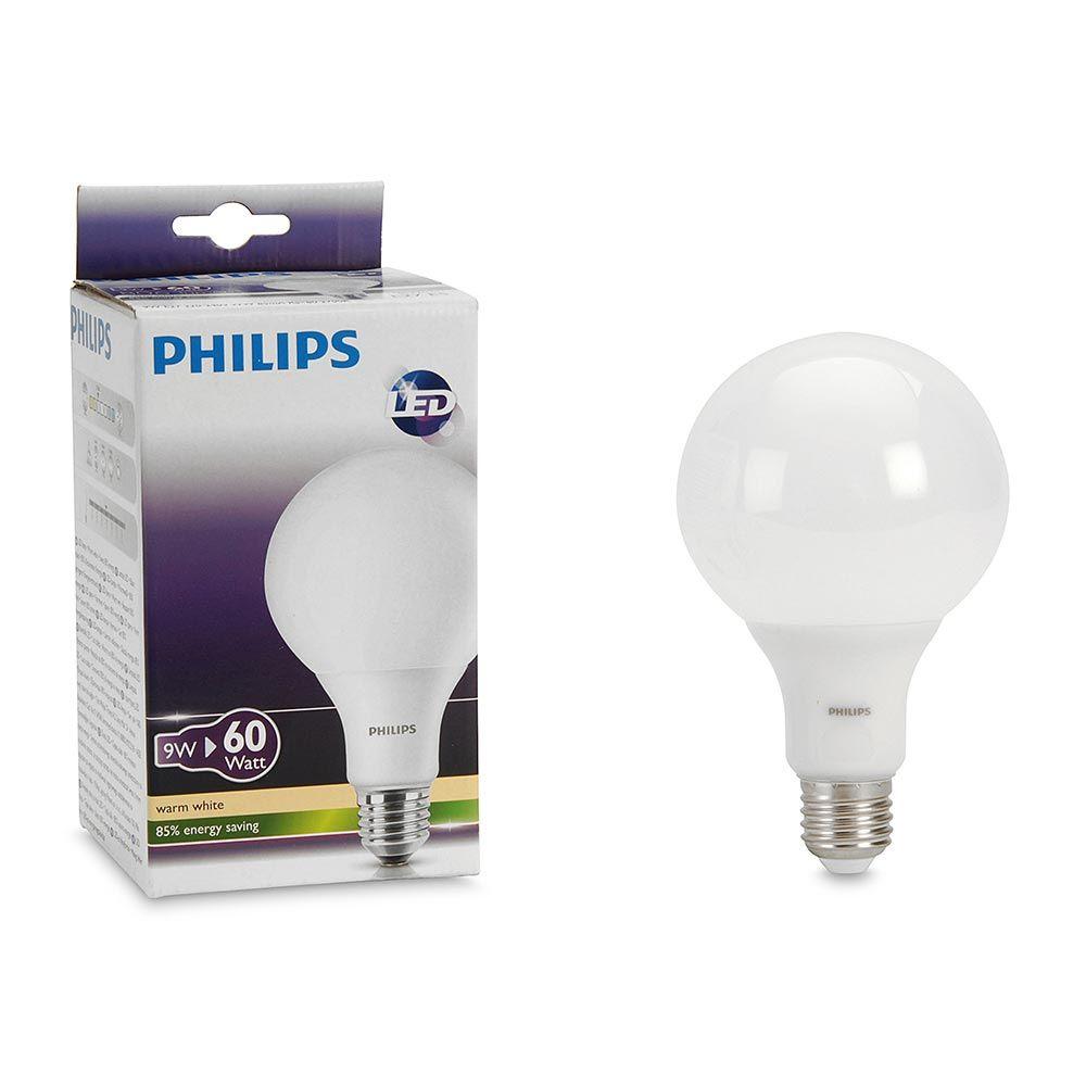 Foco Led Globo 9w E27 Luz Calida Promart Philips Led Led Light Bulb