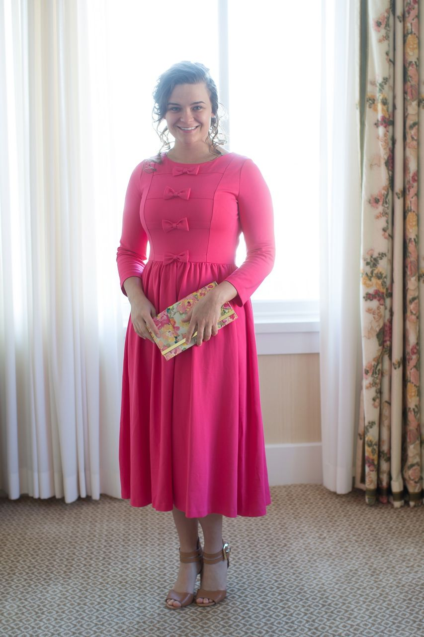 The Maddie Dress in Hot Pink: Dainty Jewell\'s Modest Apparel ...