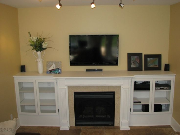 Fireplace mantel and Built ins