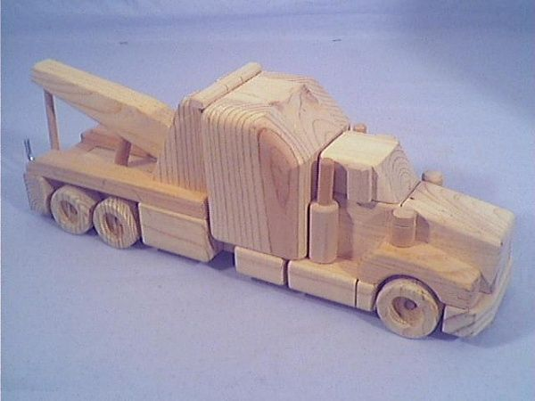 Tow Truck Wooden Truck Wooden Toy Trucks Wood Toys