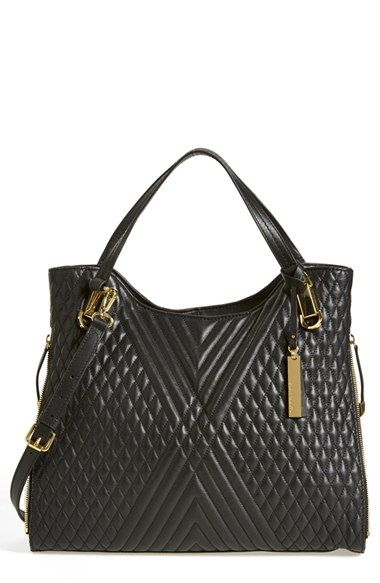 Vince Camuto Riley Quilted Leather Tote Quilted