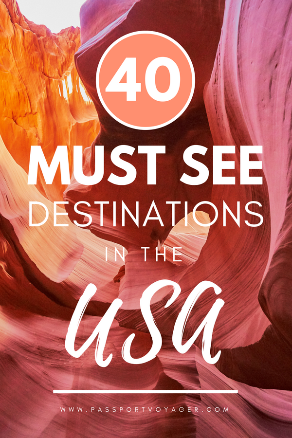 Planning a trip to USA soon? Check out this awesome guide on the best places to visit in USA, featuring the most unique, beautiful destinations in the USA to add to your bucket list! Created by travel bloggers and travel experts, these destinations range from iconic American landmarks to secret, hidden gems. | Things to do in USA | Best attractions in USA | When is the best time to visit USA | How to travel to USA | Where to stay in USA | #Travel #USA #USATravel #usatravel