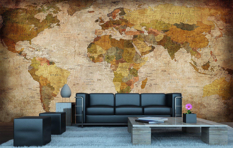 80 on amazon world map photo wallpaper vintage retro motif xxxl 80 on amazon world map photo wallpaper vintage retro motif xxxl world map mural gumiabroncs Choice Image