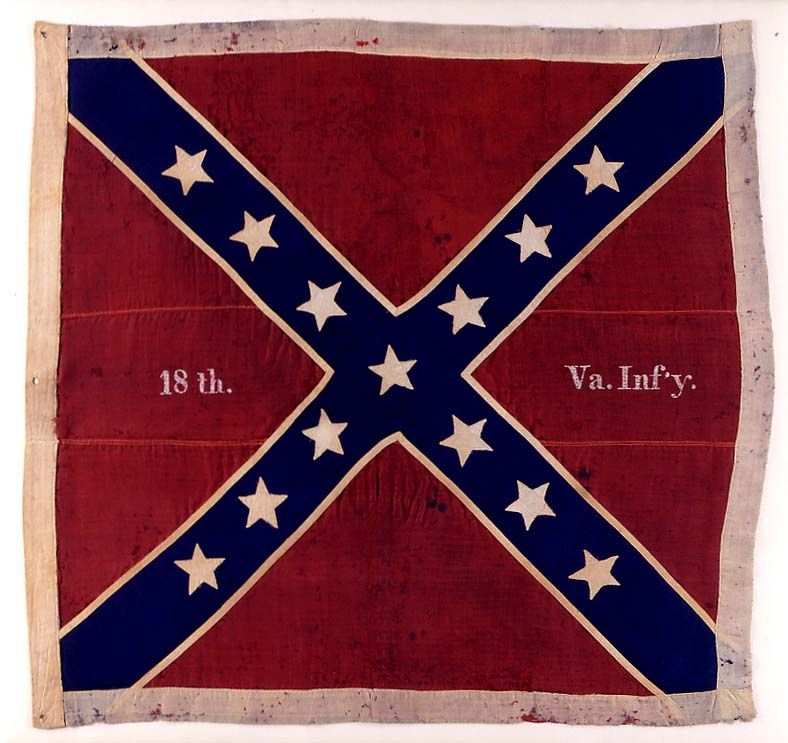 18th Va Inf Jpg Civil War Civil War History Civil War Flags