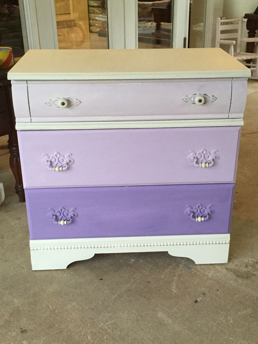 attractive Purple Chalk Paint Furniture Part - 15: Purple Chalk Paint dresser