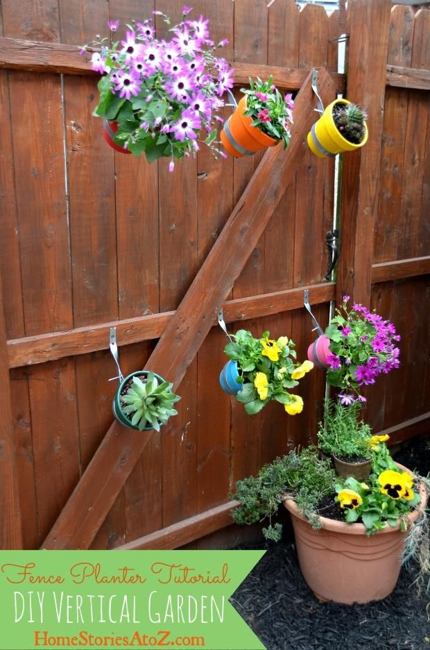 Diy garden hanging planters diy yourself fence planter diy diy garden hanging planters diy yourself fence planter solutioingenieria Gallery