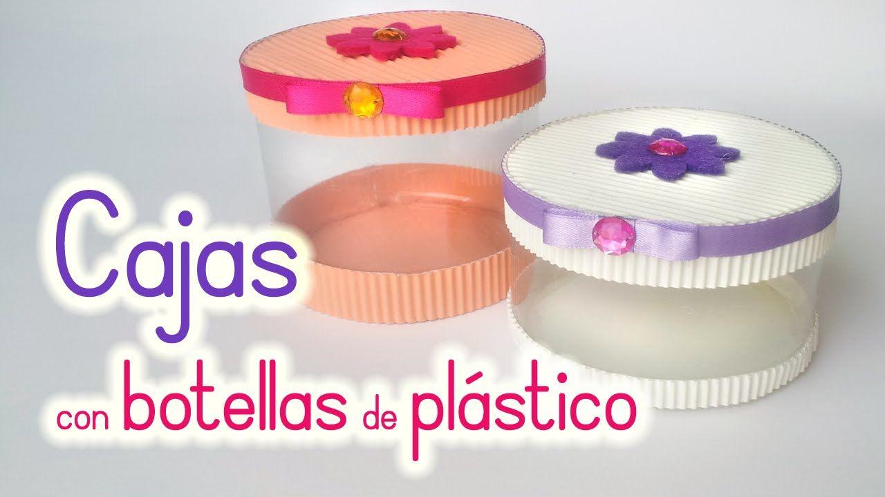 Manualidades cajas con botellas de pl stico reciclaje - Cajas de plastico ...