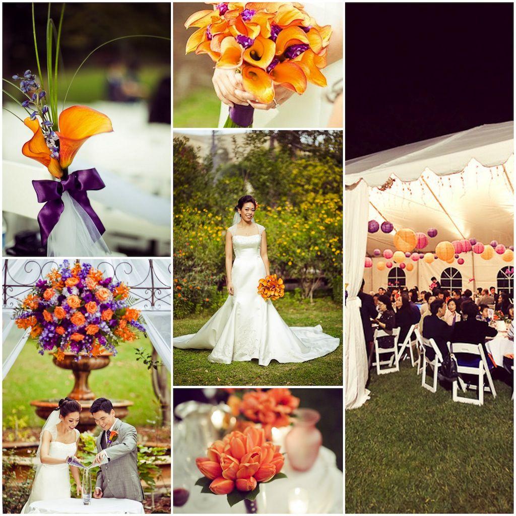 African Pearl Bridal: Purple and Orange wedding theme | Wedding ...
