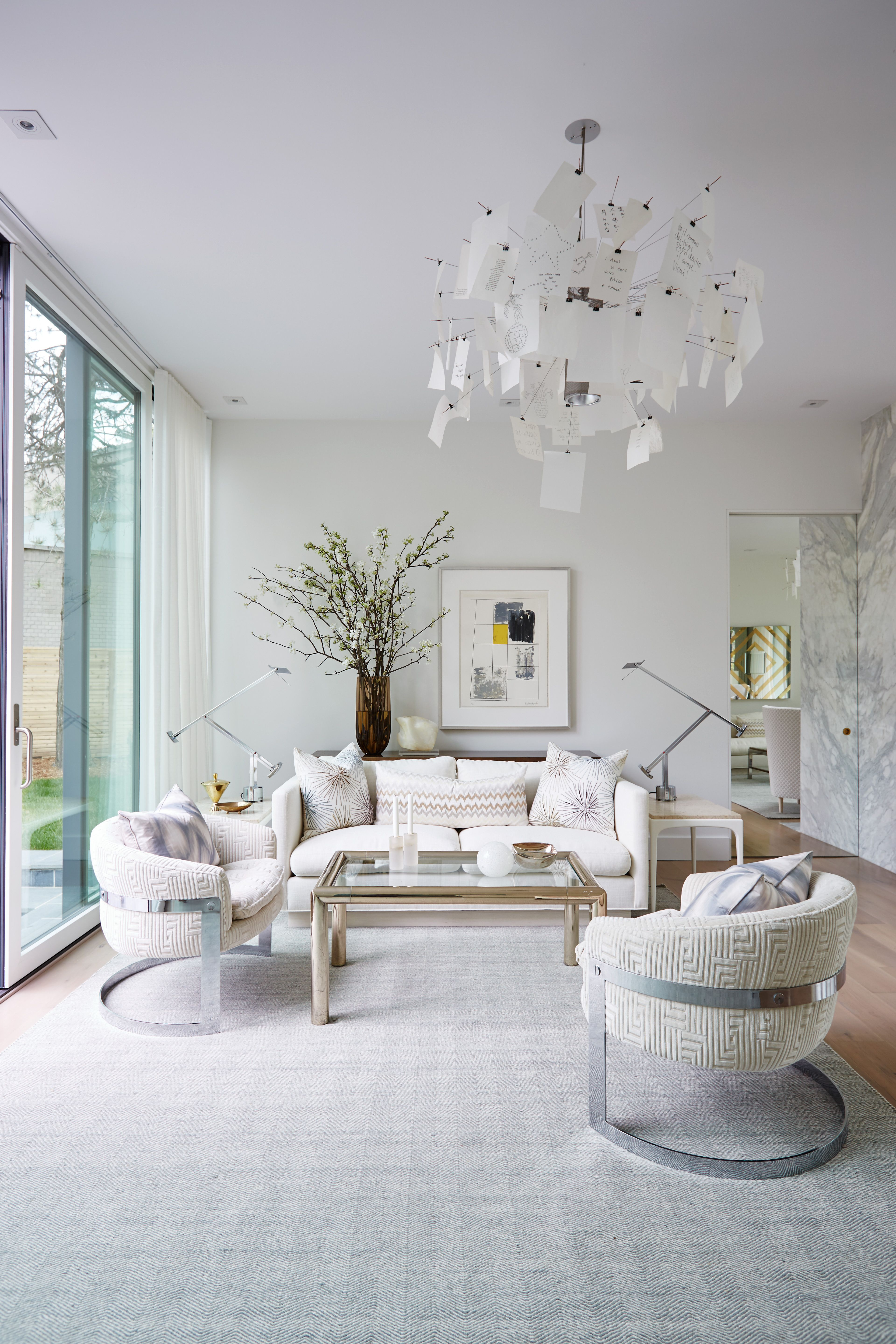 City Modern Living Room White Couch And Chairs Modern W